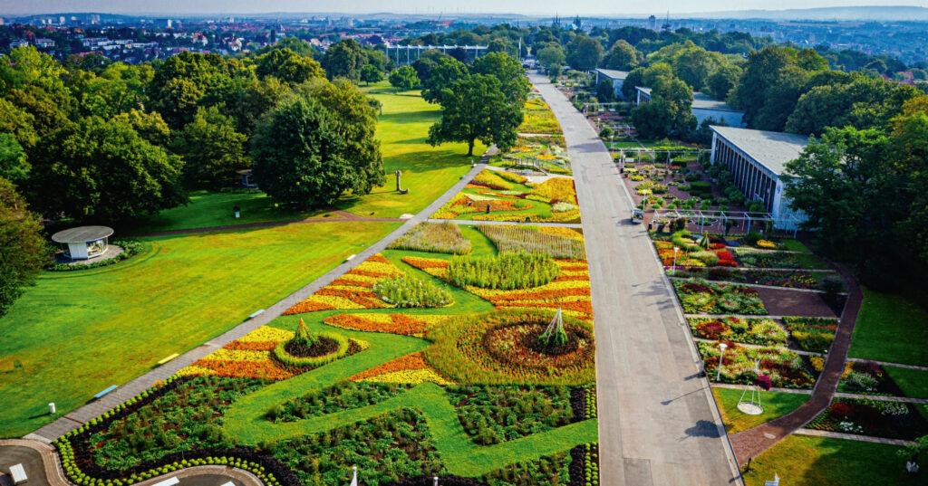 Großes Blumentbeet im egapark. Bild: BUGA Erfurt.