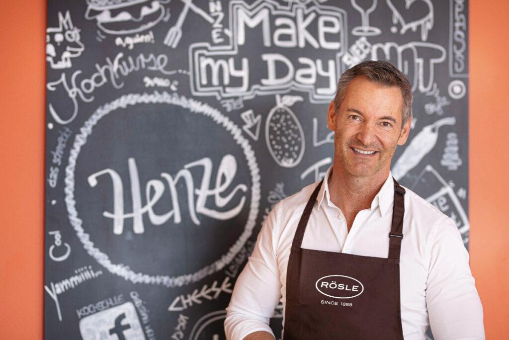 TV-Koch Christian Henze ist der Markenbotschafter von RÖSLE. Foto: RÖSLE